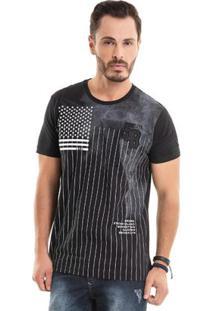 Camiseta Com Bordado Preto Bgo