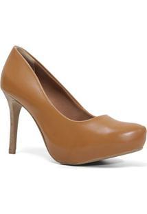 Sapato Ramarim 16-40101 Scarpin Meia Pata Feminino Caramelo
