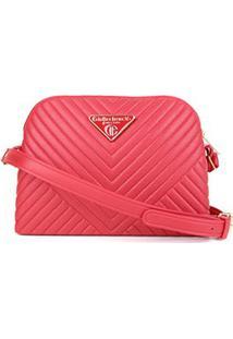 Bolsa Giulia Bardô Mini Bag Transversal Matelassê Feminina - Feminino-Vermelho