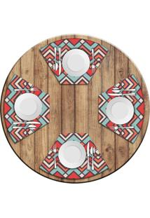Jogo Americano Love Decor Para Mesa Redonda Wevans Abstract Color Kit Com 4 Pçs - Kanui