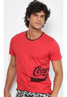 Camiseta Coca-Cola Enjoy Coke Masculina - Masculino-Vermelho