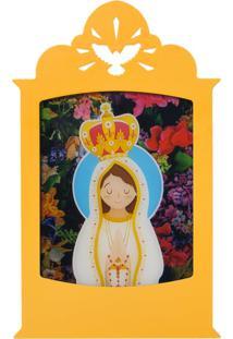 Luminária Carambola Nossa Senhora De Fátima Amarela