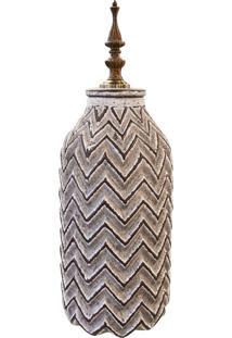 Vaso Em Cerã¢Mica Stripes Mã©Dio - Multicolorido - Dafiti