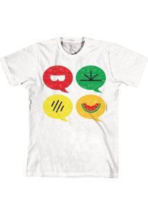 Camiseta Bandup Geek Turma Da Mônica Cool Ícones Branca