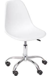 Cadeira Dkr Com Rodízios Branca