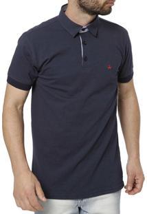 Camisa Polo Occy Manga Curta Azul Marinho