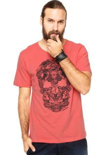 Camiseta Manga Curta Cavalera Sea Skull Rosa