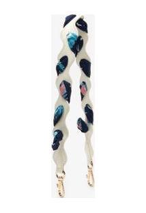 Bolsa Em Couro Lacoste Feminina - Feminino-Roxo+Azul