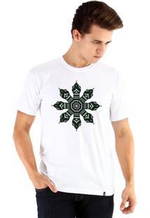 Camiseta Ouroboros Snake Circle Branco