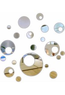Espelho Decorativo Em Acrílico Bolas Vazadas 20 Peças