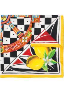 Dolce & Gabbana Lenço Com Estampa De Limão - Amarelo