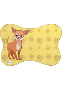 Tapete Pet Mdecore Pinsher Amarelo 46X33Cm