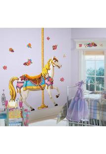 Adesivos De Parede Roommates Colorido Carousel Horse Giant Wall Decal