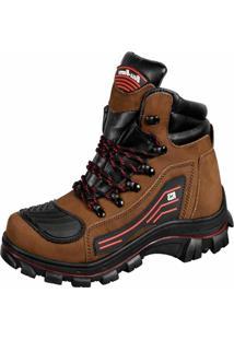 Bota Motoqueiro Em Couro Bell-Boots Marrom