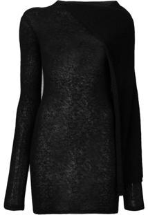 Rick Owens Suéter Translúcido - Preto