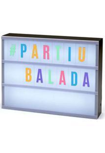 Luminária Letreiro L3 Store De Cinema Colorido