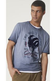 Camiseta Masculina Regular Com Lavanderia Especial