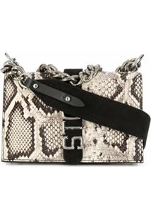 Just Cavalli Snakeskin Shoulder Bag - Neutro