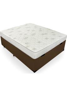 Cama Box Ba㺠Casal + Colchã£O De Espuma D23 - Ortobom - Light D23 138X188X56Cm - Branco/Cinza/Incolor/Marrom/Preto - Dafiti
