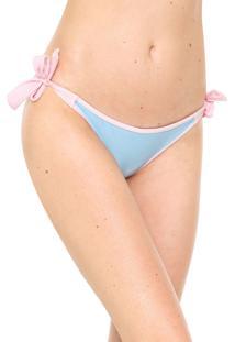 Calcinha Amber String Ester Azul/Rosa