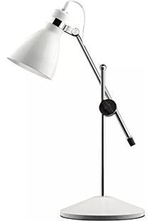 Luminária De Mesa Belize P Branca 1Xe27 60W Mart 4533