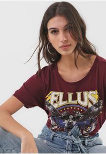 Blusa Ellus Moth Embroidery Roxa