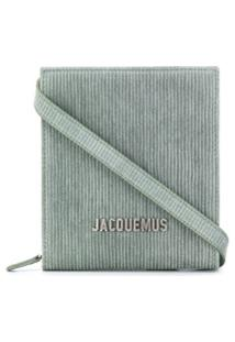 Jacquemus Bolsa Tiracolo Com Logo De Letras E Listras - Verde