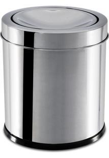 Lixeira Inox Com Tampa Basculante 3,2 Litros