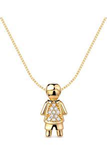 Pingente Menino Ouro Amarelo E Diamantes 14 Mm