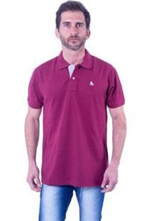 Camisa Polo England Polo Club Casual Masculina - Masculino-Vinho