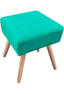 Puff Decorativo Ibiza Quadrado Suede Verde Tiffany D'Rossi