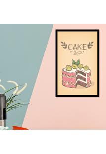Quadro Pump Up Emoldurado Cake Preta - Preto - Dafiti
