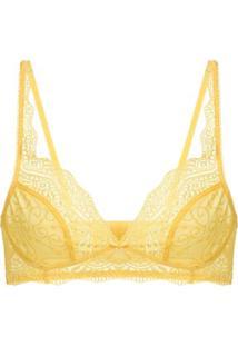 Sutiã Top Renda Love Lace Amarelo