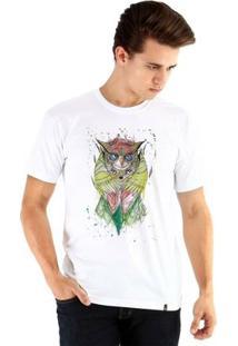 Camiseta Ouroboros Manga Curta Sabedoria - Masculino-Branco