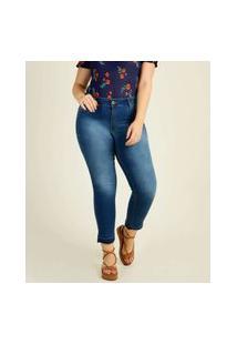 Calça Plus Size Feminina Jeans Cigarrete Biotipo