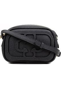 Bolsa Capodarte Mini Bag Logo Relevo Feminina - Feminino-Preto