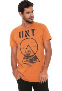 Camiseta Colcci Chris Caramelo