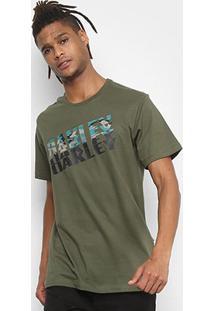 Camiseta Oakley Bark Camo Tee Masculina - Masculino