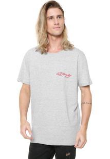 Camiseta Ed Hardy Tiger Signature Cinza