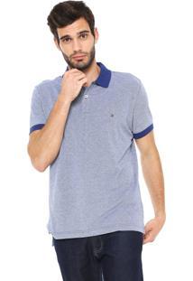 Camisa Polo Tommy Hilfiger Reta Essential Oxford Azul-Marinho