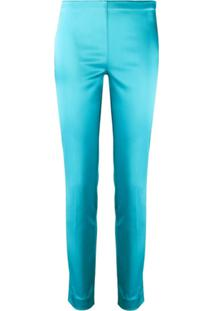 P.A.R.O.S.H. Alice Sheen Effect Trousers - Azul