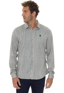 Camisa Timberland Linen Fesh Masculina - Masculino-Cinza