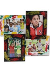 Porta Retrato Hauskraft Para 4 Fotos - Funny Colorido