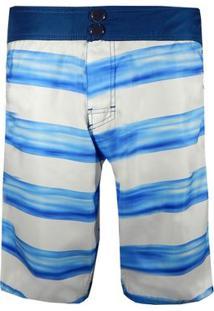 Rx Bermuda Água Alma De Praia Boarder Line - Masculino-Azul