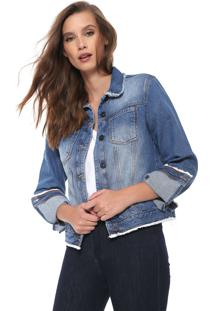 Jaqueta Jeans Triton Reta Azul