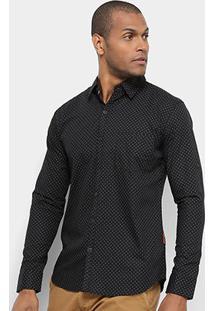 Camisa Jab Casual Estampada - Masculino