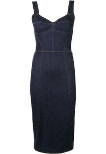 Dolce & Gabbana Vestido Jeans Slim - Azul