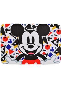 Tapete De Banho Colors Mickeyâ®- Preto & Branco- 59,5Mabruk