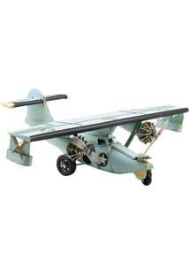 Enfeite Decorativo Minas De Presentes Avião Azul - Kanui