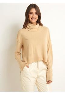 Blusa Le Lis Blanc Larissa Iv Tricot Bege Feminina (Sisal, M)